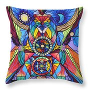 Spiritual Guide Throw Pillow by Teal Eye  Print Store