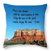 Spiritual Laws Throw Pillow
