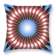 Spiritual Pulsar Kaleidoscope Throw Pillow