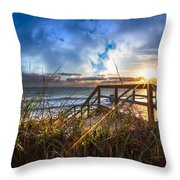 Spiritual Renewal Throw Pillow by Debra and Dave Vanderlaan