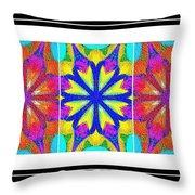 Spirituality - Life Lights - Kaleidoscope - Triptych Throw Pillow