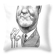 Spiro Agnew Caricature Throw Pillow