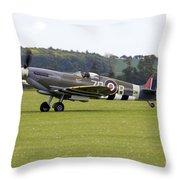 Spitfire Mk Ixb Throw Pillow