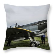 Spitfire Mk Xvie Throw Pillow