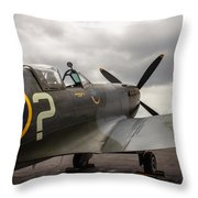 Spitfire On Display Throw Pillow