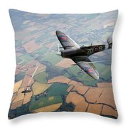 Spitfire Victory Throw Pillow