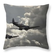 Spitfire Wingman Throw Pillow
