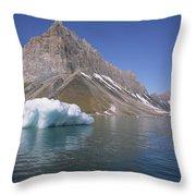 Spitsbergen Islandn Svalbard Norwegian Throw Pillow