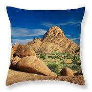 Spitzkoppe Mountain Landscape Of Granite Rocks Namibia Throw Pillow