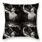 Splash Bw Four Throw Pillow