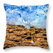 Splash In La Jolla By Diana Sainz Throw Pillow