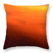 Splash Of Sunset  Throw Pillow by Cindy Greenstein