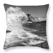Splash - Panther Beach In Santa Cruz California. Throw Pillow