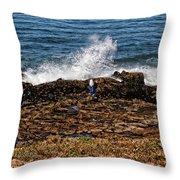Splash Zone Throw Pillow