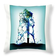 Splashing Fountain Throw Pillow