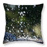 Splashing Throw Pillow