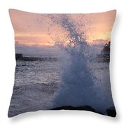 Splashy Sunrise Throw Pillow