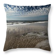 Splattered Clouds Throw Pillow by Adam Jewell
