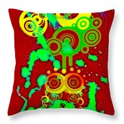 Splattered Series 10 Throw Pillow
