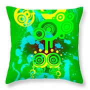 Splattered Series 7 Throw Pillow