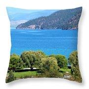 Splendid Kalamalka Lake Throw Pillow