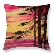 Splendid Sunset Bay Throw Pillow