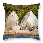 Split Apple Rock Near Abel Tasman Np In New Zealand Throw Pillow
