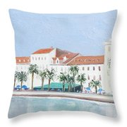 Split Croatia Adriatic Coast Throw Pillow