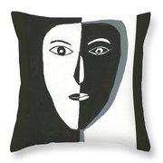 Split Personality Throw Pillow