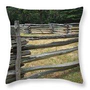 Split Rail Corral Throw Pillow