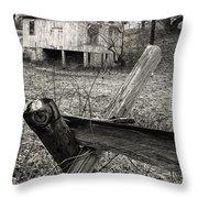 Split Rail Fence Throw Pillow