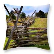 Split Rail Throw Pillow