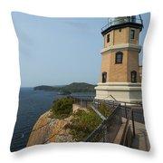 Split Rock Lighthouse 100 Throw Pillow