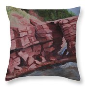 Split Rock Throw Pillow