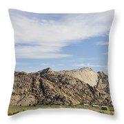Split Rock Wyoming Throw Pillow