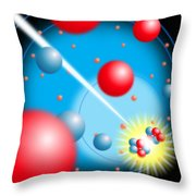 Splitting The Atom Throw Pillow