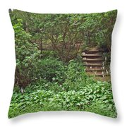 Spohr Gardens - Quissett - Falmouth - Ma - Cape Cod Throw Pillow