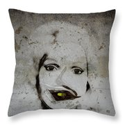 Spoiled Portrait In The Wall Throw Pillow