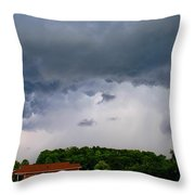 Spoiling For A Storm Throw Pillow