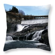 Spokane Falls At Low Tide Throw Pillow