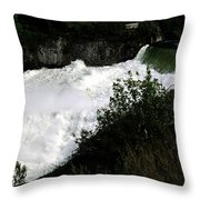 Spokane Falls In The Spring Throw Pillow