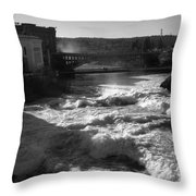 Spokane Falls Spring Flow Throw Pillow