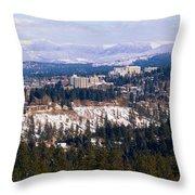 Spokane View 2-4-14 Throw Pillow