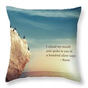 Spoke To You Throw Pillow