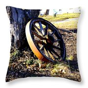 Spoked Off Throw Pillow
