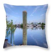 Sponge Boat Docks 2  Throw Pillow