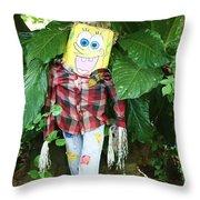 Sponge Bob Scarecrow Throw Pillow