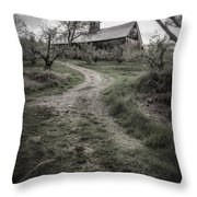 Spooky Apple Orchard Throw Pillow
