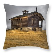 Spooky Old School House Throw Pillow