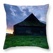 Spooky Shadow Barn Throw Pillow